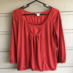 Burnt Orange Lucky Brand Boho Top